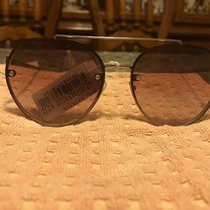 Tommy Hilfiger Oval Tan Sunglasses NWT